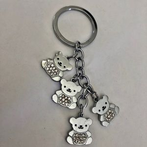 Accessories - BNWOT Teddy bear keychain with rhinestones